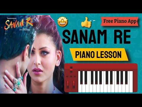 Sanam Re - Piano Lesson in Hindi - Step By Step With Instructions