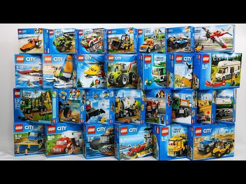 50 SETS COMPILATION/COLLECTION OF LEGO CITY GREAT VEHICLES