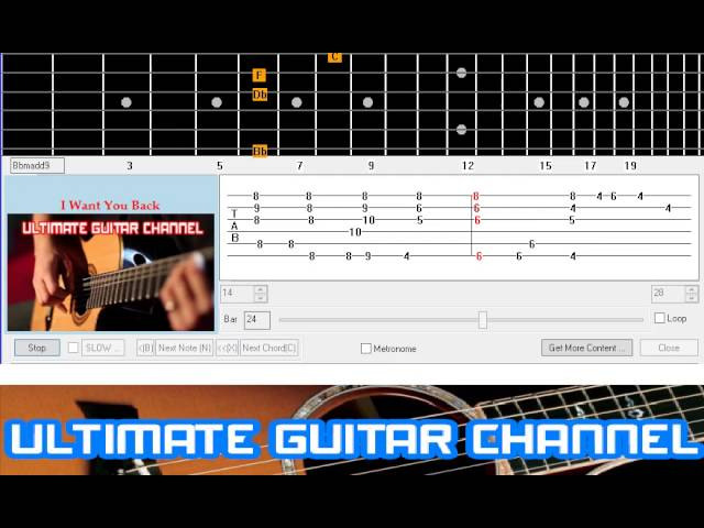 Guitar Solo Tab] I Want You Back (Jackson 5) Chords - Chordify