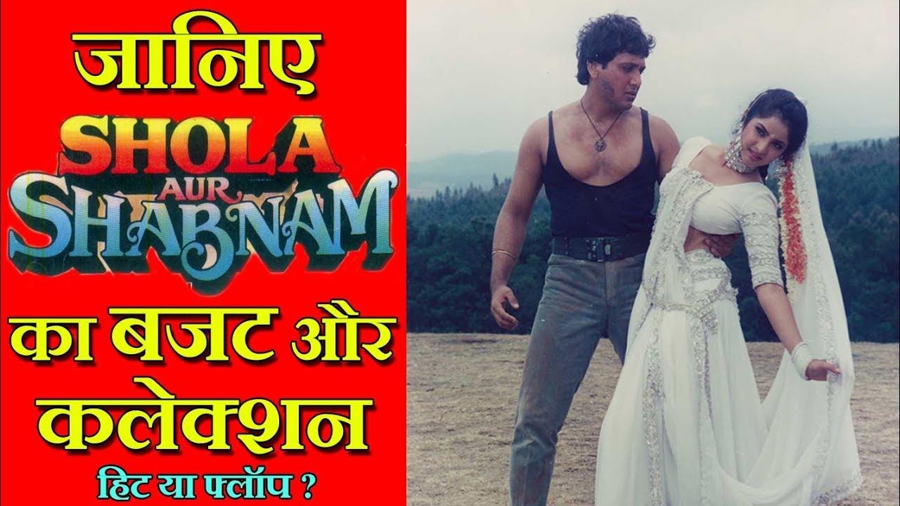 Download Shola Aur Shabnam 1992 Movie Budget, Box Office Collection, Verdict and Facts | Govinda