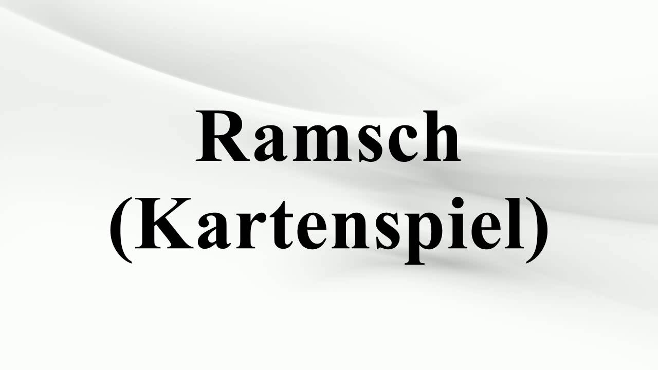 Ramsch Skat