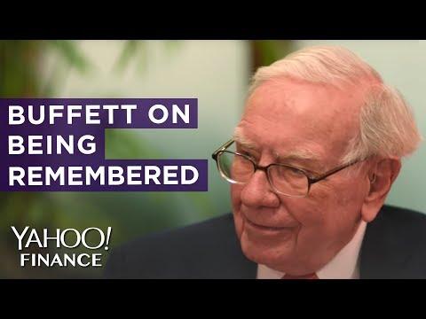 Warren Buffett wants to be remembered, but not as an investor