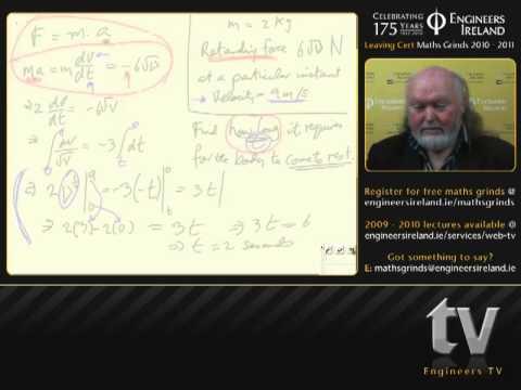 Differentials - LeavingCertificateAppliedMathsTutorial