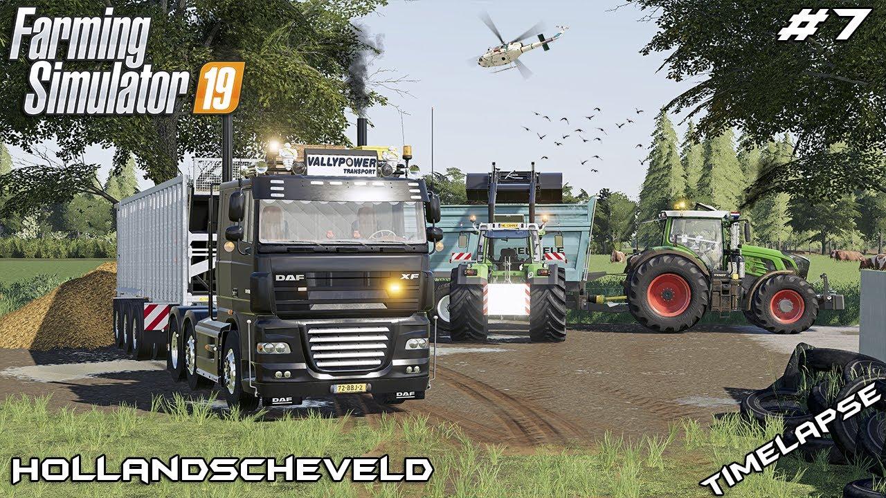 Mowing ALFALFA and spreading MANURE   Animals on Hollandscheveld   Farming Simulator 19   Episode 7