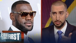Nick Wright on why LeBron's leaving Cavs after Finals vs Warriors   NBA   FIRST THINGS FIRST