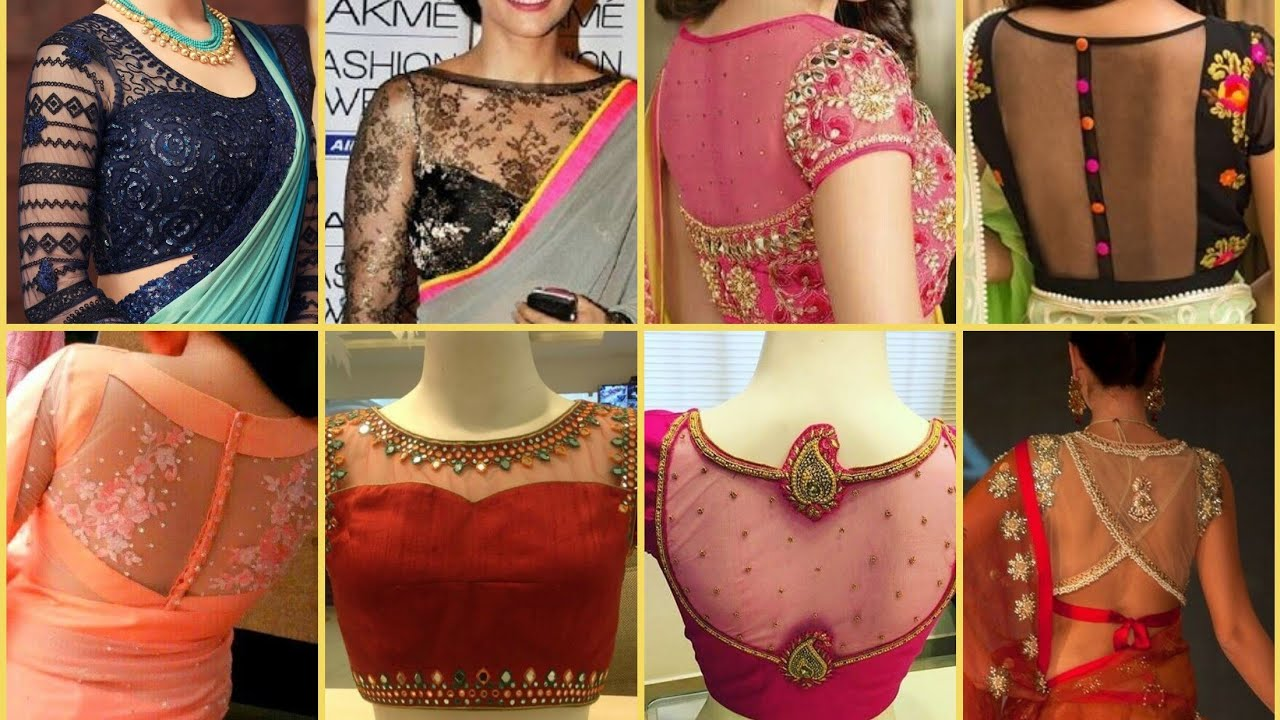 Top 100 Partywear Net Blouse Designs Netted Saree Blouse Designs 2019 Youtube