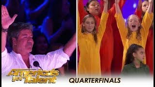 Voices Of Hope Choir: Simon Cowell Holds Back TEARS After This! | America's Got Talent 2018