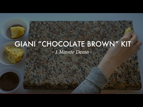 Chocolate Brown 1 Min Demo Giani Countertop Paint