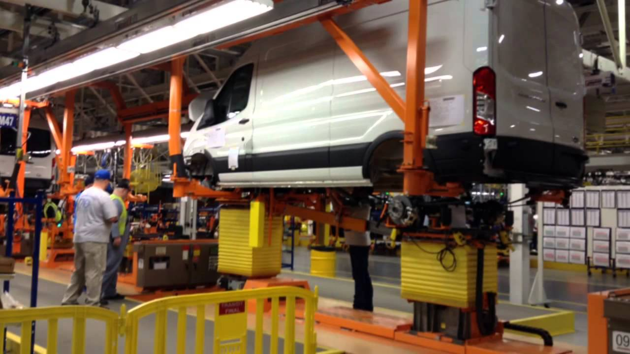 Ford Transit Van Rolls Off Assembly Line Wednesday At