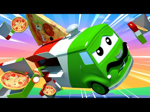 Tom the Tow Truck -  Carlo the Pizzaiolo - Car City ! Cars and Trucks Cartoon for kids