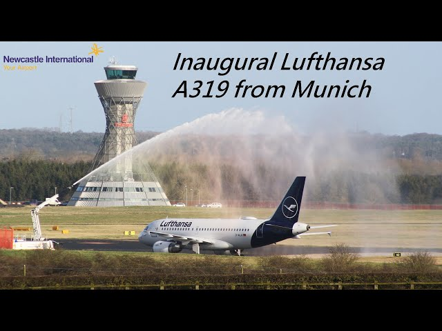 Welcome to Newcastle International Airport Lufthansa | Inaugural A319 flight