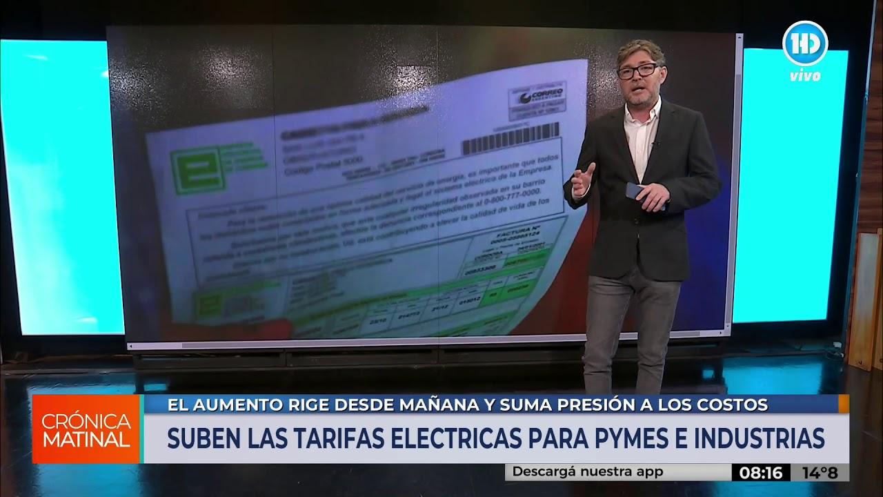 Desde el 1 de mayo suben las tarifas eléctricas para pymes e industrias