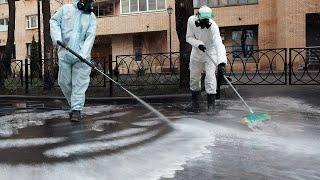 Масштабная дезинфекция и массовые штрафы Коронавирус буйствует в России
