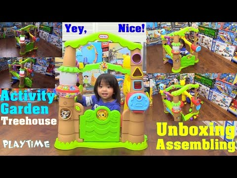 Educational Toys for Toddlers: Little Tikes Activity Garden Treehouse Unboxing & Playtime Fun Video