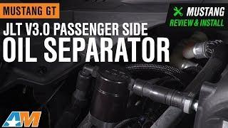 2011-2017 Mustang GT JLT V3.0 Passenger Side Black Oil Separator Review & Install