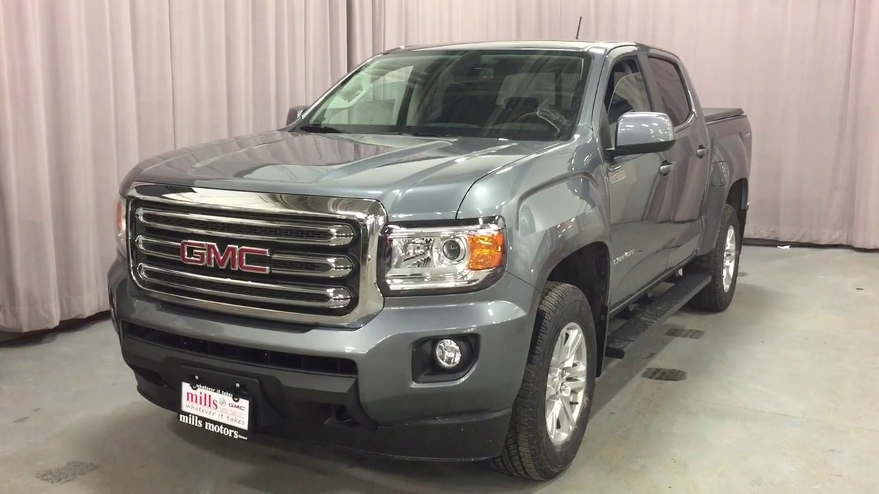 Satin Steel Metallic 2019 GMC Canyon 4WD Crew Cab 128.3 SLE Review Oshawa null - Mills Motors ...
