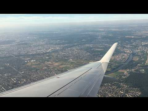 Landing At Paris Charles De Gaulle (CDG) Airport With City Views