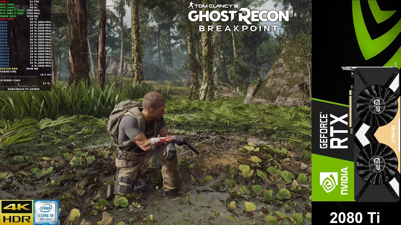 Ghost Recon BreakPoint Beta Ultra Settings 4K | HDR | RTX 2080 Ti | i9 9900K 5GHz
