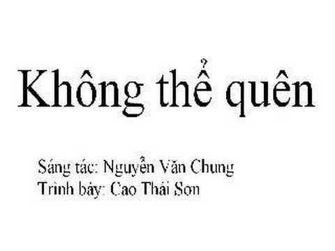 khong the quen