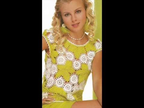 how to irish crochet summer top free pattern - YouTube