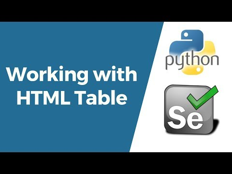 selenium-with-python-tutorial-15--working-with-html/web-table