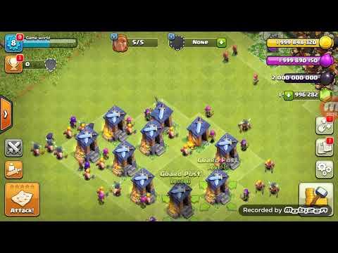 Max 20 Giant VS  10 Max Guard Post (coc Privet Server)