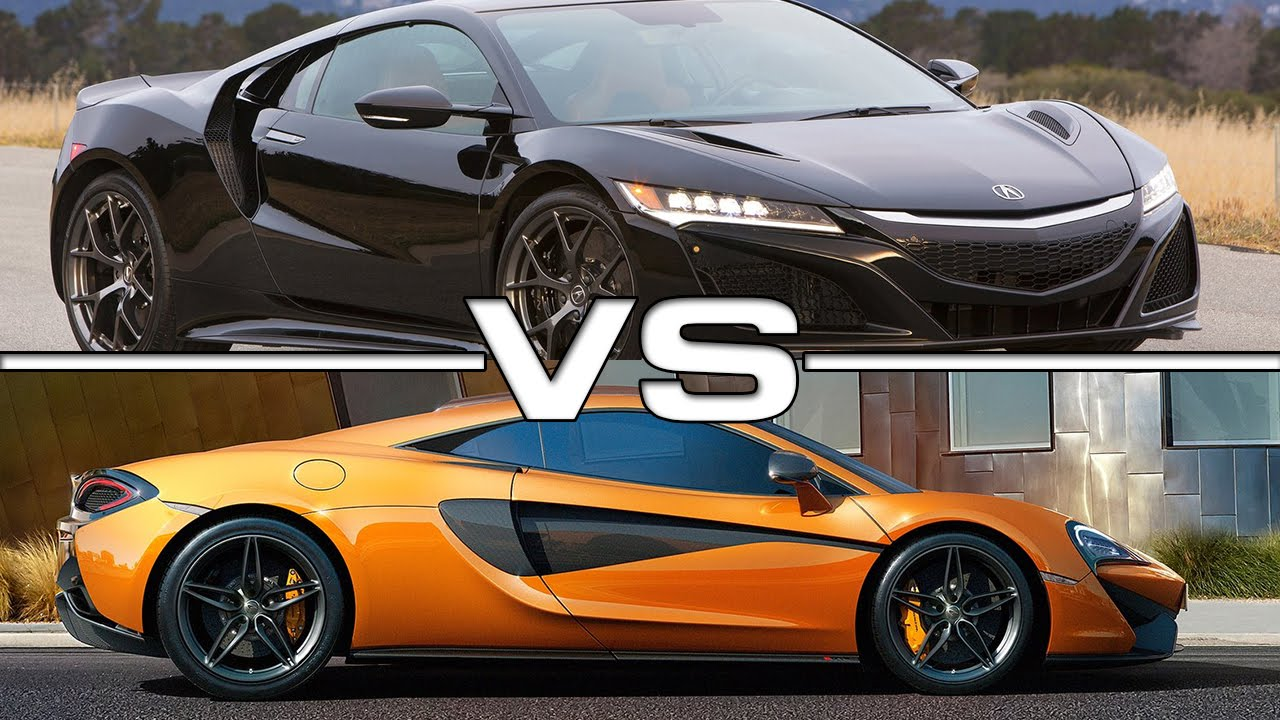 2017 acura nsx vs 2016 mclaren 570s coupe youtube. Black Bedroom Furniture Sets. Home Design Ideas