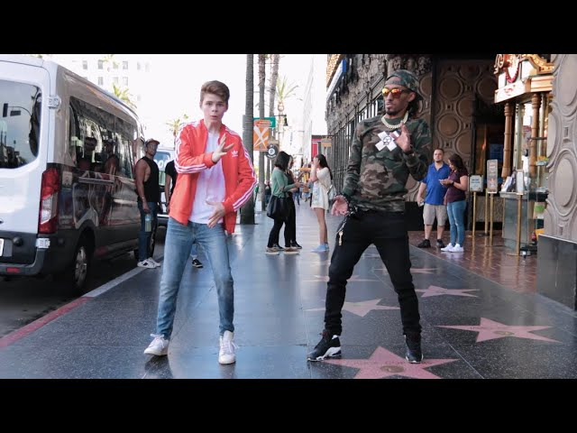 Marquese Scott and Merrick Hanna Dance on the #walkoffame