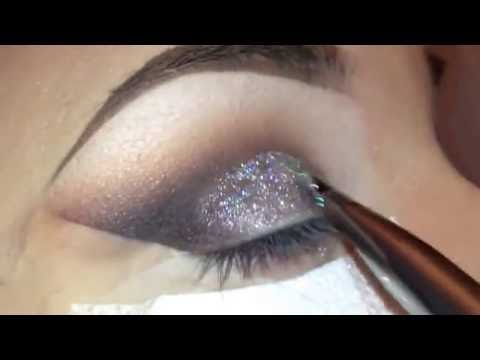 Cut Crease Silver Glitter Elegant Makeup Tutorial from YouTube · Duration:  3 minutes 37 seconds