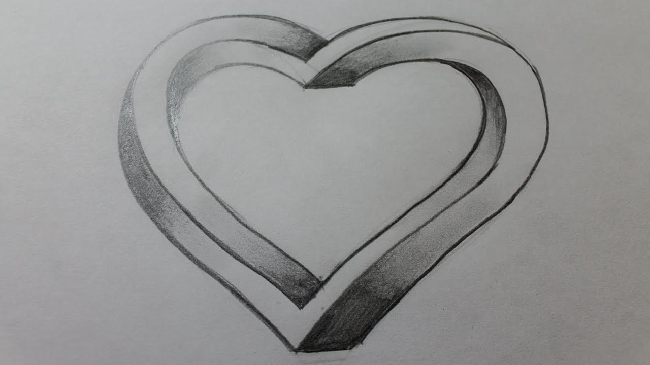 How to draw the impossible heart - YouTube