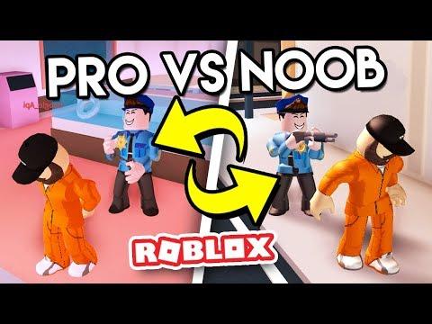 Download Youtube: PRO VS NOOB COPS in JAILBREAK - Roblox Jail break w/MyUsernamesThis