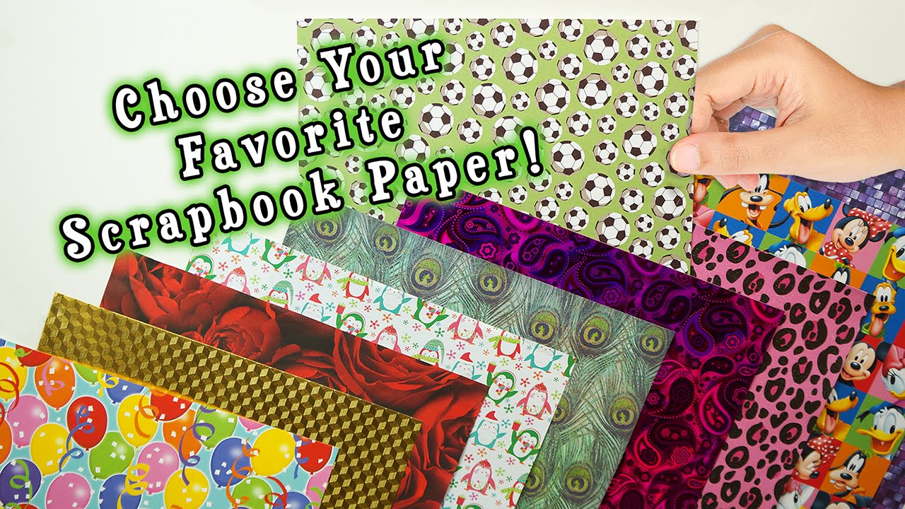 Create Trim A Rim Borders With Your Favorite Scrapbook Paper Youtube