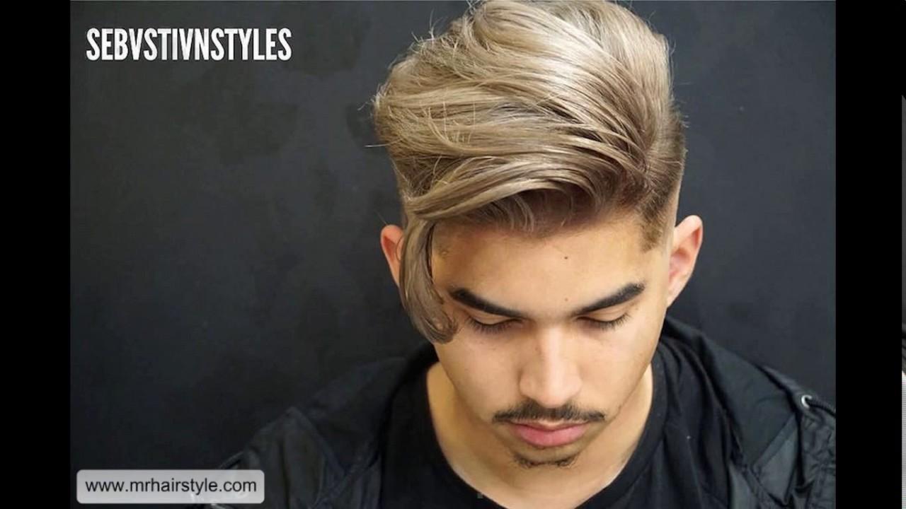 Short sides long top haircut men - YouTube