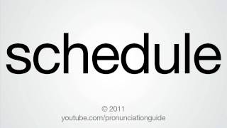 How To Pronounce Schedule thumbnail