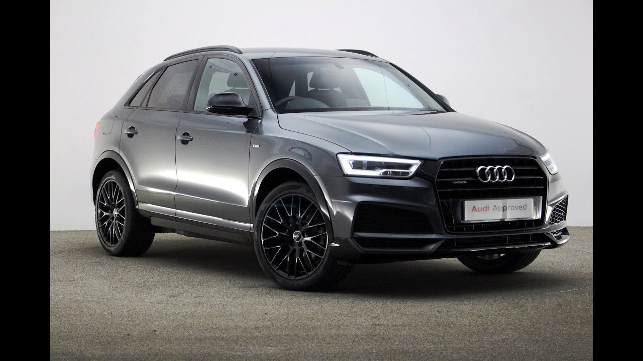 ky17zzs audi q3 tdi quattro s line black edition grey 2017 reading audi youtube. Black Bedroom Furniture Sets. Home Design Ideas