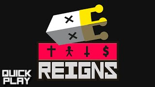 Reigns Gameplay - Choose Your Own Adventure via a Card Game! (Quick Play!)