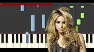 Shakira Perro Fiel Nicky Jam Piano Midi tutorial Sheet app Cover Karaoke