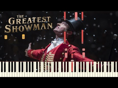 "The Greatest Showman - ""From Now On"" [Piano Tutorial] (Synthesia)"