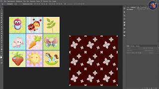 7. Урок.Бесшовная текстура (узор) и смарт объект - Seamless texture (pattern) and smart object