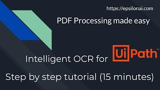 Smart data extract ( intelligent OCR) in UiPath RPA in 15 minutes