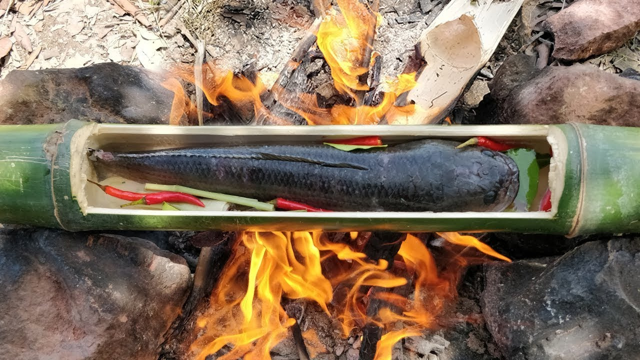 Wonderful Idea Whole Fish Cooked in Bamboo Tube