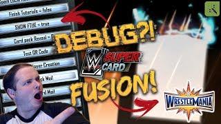 FIRST WRESTLEMANIA 33 FUSION! HUGE DEBUG MENU REVEALED!! | WWE SuperCard