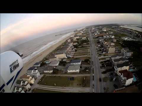 Hobby Zone Super Cub w/ brushless 480 flying over the Atlantic Ocean in North Carolina