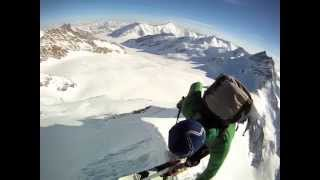 Swiss Alps - Skiing down the Mönch South face