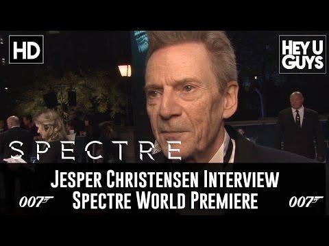 Jesper Christensen   Spectre World Premiere