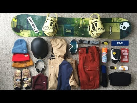 MY SNOWBOARD GEAR LIST
