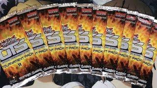 Opening Ten Yugioh OTS Tournament Pack 11 Booster Packs