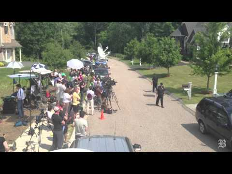 Police search Hernandez's home