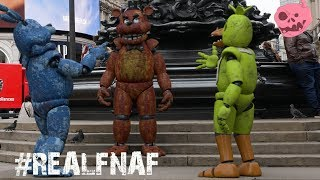 Real Freddy and characters from fnaf visit London UK - This is a st...