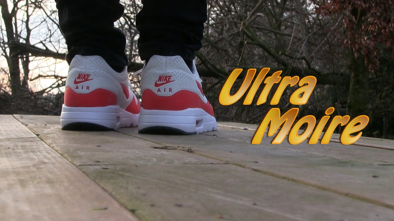 f2bcba558023 Nike Air Max 1 Ultra Moire (White   Red) - On Feet - YouTube